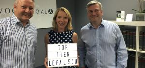 Top Tier: Left to right Collingwood Legal's Paul Johnstone, Sarah Fitzpatrick and Paul McGowan