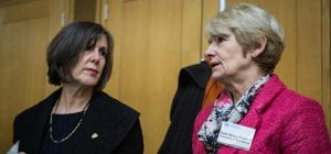 Prof. Janet Beer (left) vice-chancellor of the University of Liverpool, with Prof. Dame Nancy Rothwe