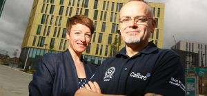 A 30% growth in first quarter sales is driving growth at Newcastle's Calibre  says Karen Nelson (lef