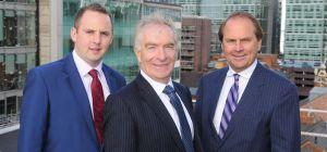 (L-R): Jonathan Stott, Charles Hamer and Michael Ward.