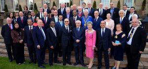 The Ambassadorial delegation and dignitaries at Wynyard Hall, Tees Valley