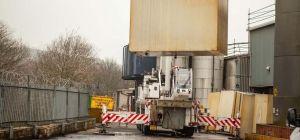 Work under way on unused plant of the Batoyle Freedom Group of Huddersfield.