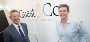 RBS' Andrew Adshead (left) with Guest & Company director Mat Guest