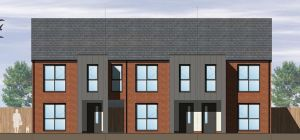 A CGI of the affordable homes at Newhall Gate.