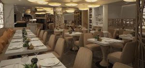 The innards of San Carlo Group's new Fumo restaurant in Covent Garden.