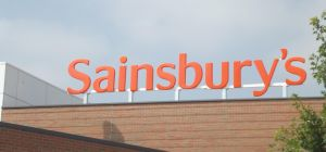 Sainsbury's - Longbridge Town Centre - Longbridge Lane, Longbridge - sign