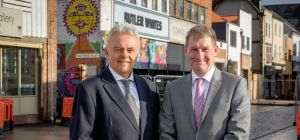 Paul Barker, partner and head of property at Andrew Jackson with David Donkin, Wykeland's property d