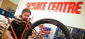 Edinburgh Bicycle Co-operative mechanic