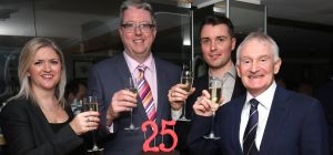 Operations Director Tracy Thompson, with partners Michael Fogarty, John McKenna and Paul Crowley