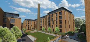 A CGI of the 228 apartment scheme on the site of a former tannery, just outside of Leeds city centre