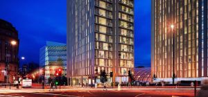 CGI image of the new residential scheme.