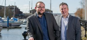 New Corporate Manager Andrew  Jordan (LEFT) with 360 Director, Andy Steele