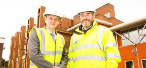 Daniel Roberts, regional manager for North Wales, Lucion Services with Jeremy Meredith, operations d