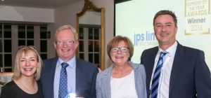 : <centred> John Petty and Bridget Petty from JPS with <left to right> Katy Ingram and Mark Wilby fr
