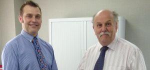Darren Hudson (left) with Bob Arnott
