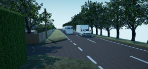 Spearhead's virtual recreation of a road traffic collision used in a court case.