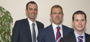 Matthew Dixon (centre) who has launched MD Law with Neil Kelly (left) and Carl Jones.