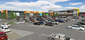 A CGI of Liverpool Shopping Park's leisure element