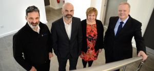 Mike Odysseas with JBC Accountants' directors Paul Riggall, Lynne Dickson and John Benson