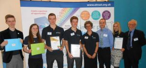 Walker Filtration staff and Newcastle Royal Grammar School students pictured (above) after completio