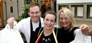 Simon Miller, Jo Marine and Dawn Barrett from La Casita in Ilkley launch the bar's lunch time 'to-go