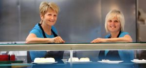 Jean Hall owner of Jeans Kitchen and Louise Matthews