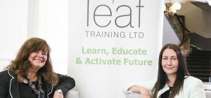 (left) Wendy Pryde and (right) Helen Miller of Leaf Training which has been launched with the help o