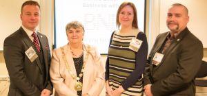 left to right; Darren J Smith (Principal of Darren J Smith Wealth Management), Joan Nicholson (Chair