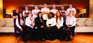 The staff at Aspers Casino Freya's Restaurant