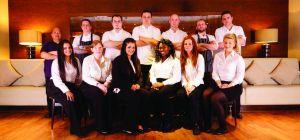 The staff at Aspers Casino Freya's Restaurant