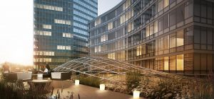 CGI of Millbank's proposed roof terrace. Photo: Millbank Tower Proposal