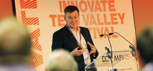 James Robson MBE speaking at the Innovate Tees Valley Festival