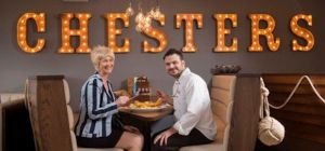 NatWest relationship manager Julie Jones with Chris Ioannides for Chester's Restaurant