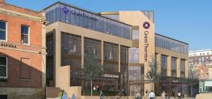 A CGI of the new Grant Thornton building in Sheffield.
