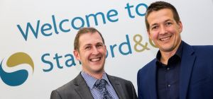 RBS' Steve Molyneux (left) with Rob Stafford of Stafford & CO