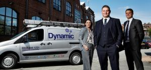 Business development manager Nicola Gordon, managing director James Baird and projects director Gare