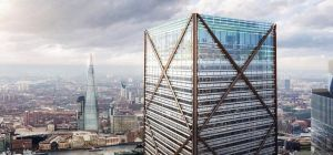 Proposed design of the new building at 1 Undershaft / Source: DBOX for Eric Parry Architects.