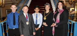 Front of House Operations at Liverpool Town Hall Robbie Baines, Cllr Tony Concepcion, Junior Lord Ma