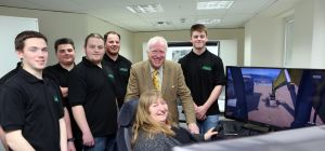Wales Deputy Minister for Skills and Technology , Julie James, with Huw Jones, Chairman of Jones Bro