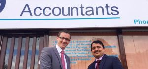Danny Scarr, Barclays with Delwar Hossain, Del and Co Accountants.