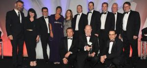 David Rawlance of Lloyds Bank presents Professional Services Firm of the Year Award to Carpenter Box