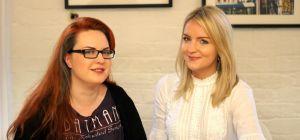 Riven Alyx Buckley (left) with Eleanor Wheeler