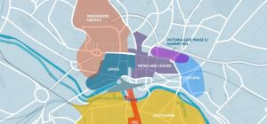 The district would incorporate the main city centre campuses of the University of Leeds and Leeds Be