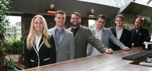 The Botanist management team, (from L-R) Rhiannon Courtenay Smith, Callum Falkous, Paul Burns, David