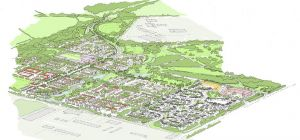 A visual of the proposed Rudgate Village development.