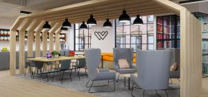 Artist's impression of Verizon and Work.Life's new co-working space in Clerkenwell.