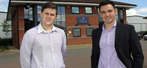 Certax Durham directors Jonathan Tait (left) and Matthew McConnell (right) are delighted with the gr
