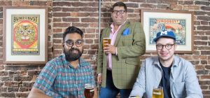 Mayur Patel and Mark Husak of Bundobust with Simon Mydlowski of Gordons.