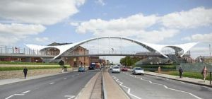 Artist impression of the new Princes Quay bridge.