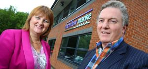 FW Capital Investment Executive Nicky Atkinson and Techflow Marine Finance Director Graham Clark